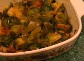 Curried Sevaiyan And Brussels Sprouts